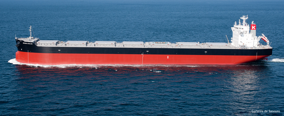 FORAN IN THE WORLD'S LARGEST PANAMAX BULKCARRIER BUILT IN SANOYAS SHIPBUILDING CORPORATION